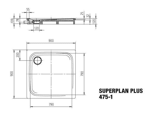 KALDEWEI Superplan Plus Shower Floor - Bathe